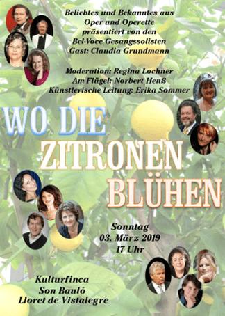 Bel-Voce Gesangssolisten - Wo die Zitronen blühen @ Kulturfinca Son Bauló | Illes Balears | Spanien